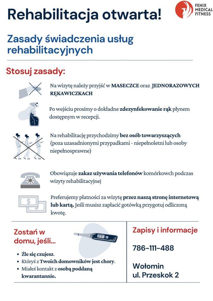 Rehabilitacja otwarta!