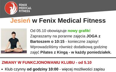 Jesień w Fenix Medical Fitness